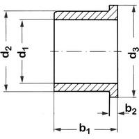 Reely Bundbuchse Innen-Durchmesser: 8mm Außen-Durchmesser: 12mm Breite: 8mm 1St.