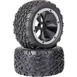 Reely 1:8 Monstertruck Reifen 6-Speichen Schwarz-Grau 2St.