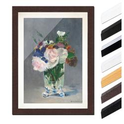 Bilderdepot24 Wandbild, Édouard Manet - Blumen in einer Kristallvase bunt 20 cm x 30 cm