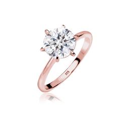 Elli Fingerring Verlobungsring Kristalle 925 Silber, Verlobungsring rosa 50