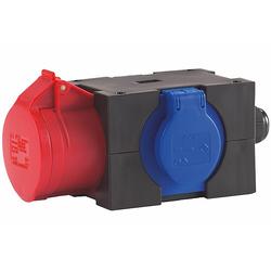 HEDI Drehstrom-Verteiler - 5 x 16 A / 400 V auf 250 V + 5 x 16 A / 400 V - IP44
