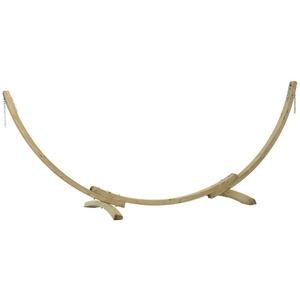 CONACORD Hängematte Hängemattengestell Premium Holz Gestell für Hängematte Hängeliege von 250-310cm bis 160 kg, variable Einstellung der Kettenlänge für Hängematten von 250 bis 310 cm