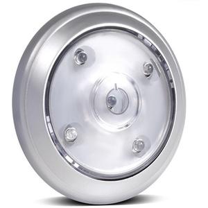 Maclean MCE28 LED Lampe Licht Selbstklebend Leuchte Schrankleuchte 5 LEDs 360 Grad Drehung Regelung silber