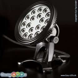LED Unterwasserscheinwerfer 18x1 Watt RGB IP68