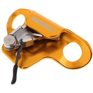 T TOOYFUL Klettern Steigklemme Abseilgerät Baumpflege Seilgreifer Steighilfe für 8-13mm Durchmesser Seil - Gold