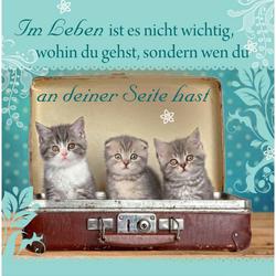 """H&H Romantisches Geschirrtuch """"Im Leben..."""" Handtuch"""