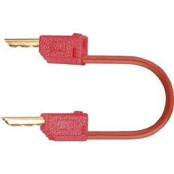 Stäubli LK2-F 60cm rt Messleitung [Lamellenstecker 2mm - Lamellenstecker 2 mm] 0.60m Rot