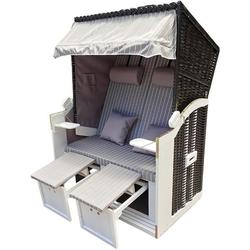 normani Strandkorb Premium Strandkorb 2-Sitzer, BxTxH: 120x80x160 cm, Premium Qualität – inklusive Abdeckhaube