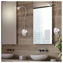 etc-shop Wandstrahler, 2er Set LED Wand Lampen Flexo Arm Lese Beleuchtung Wohn Zimmer Strahler Schalter Beleuchtung Chrom