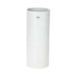 matches21 HOME & HOBBY Blumentopf Vase Keramik weiß hoch rund Blumenvase Ø 12x30 cm (1 Stück) 12 cm x 30 cm