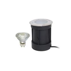 VBLED LED Einbaustrahler Schwenkbarer LED Bodeneinbaustrahler 230V AC IP67 wassergeschützt, LED Einbaustrahler