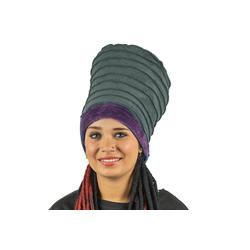 KUNST UND MAGIE Ballonmütze Kunst und Magie Mütze aus Samt Dreadtube Dreadhead Dreads Hippie Goa 2i1 grau