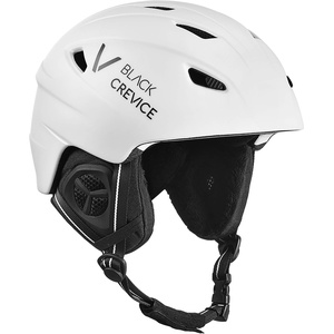 Black Crevice Unisex – Erwachsene Skihelm Streif, matt weiß/schwarz, XS (53-54 cm)