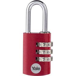 YALE YE3CB/28/126/2/CO Vorhängeschloss 28mm 2er Set Rot Zahlenschloss