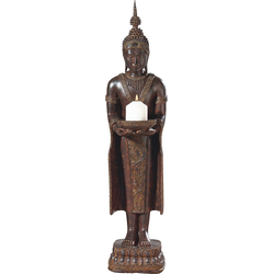 pajoma Kerzenständer Buddha braun Kerzenhalter Kerzen Laternen Wohnaccessoires