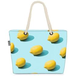 VOID Strandtasche (1-tlg), Zitronen Küche Beach Bag Früchte Frucht Essen Kochen Küche Obst Gesund Sauer