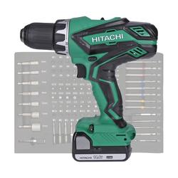 Hitachi Werkzeug Hitachi DS14DJL Bohrmaschine inkl. 2 x 1,5 Ah 14,4 V Akku Ladegerät + 100-tlg