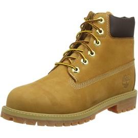 Timberland 6 Inch Premium Waterproof (Junior) Klassische Stiefel, Gelb Wheat Nubuck, 39 EU