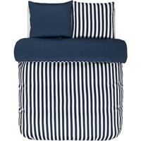 Marc O'Polo Classic Stripe indigo blau 135 x 200 + 80 x 80 cm