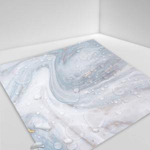 Hiser 10 Stück Küchenrückwand Fliesenaufkleber, Marmor Muster Wasserdicht Ölfest Stickerfliesen Deko Selbstklebende für Küche Badezimmer Wohnzimmer Dekoration (grau weiß,15 x 15 cm)