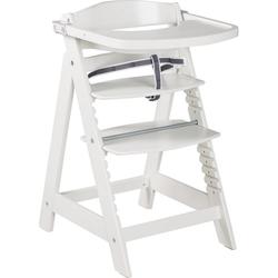 roba® Hochstuhl Treppenhochstuhl Sit Up Click & Fun, weiß, aus Holz