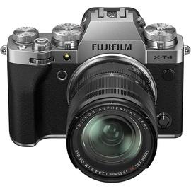 Fujifilm X-T4 silber + XF 18-55 mm R LM OIS