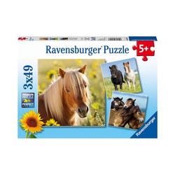 Ravensburger Puzzle 3er Set Puzzle, je 49 Teile, 21x21 cm, Liebe, Puzzleteile