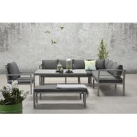 Garden Impressions Blakes XL Lounge-Set grau/schwarz