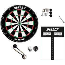 XQMAX Dartscheibe Darts Set, Dartscheibe, Scoreboard, mehrteiligem Steeldart-Set, Stift und Eraser