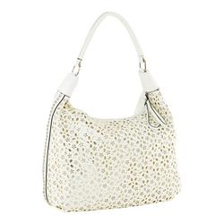 Tasche mit Lochmuster weiß