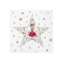 stewo Papierserviette Sternenmädchen, (5 St), 33 cm x 33 cm