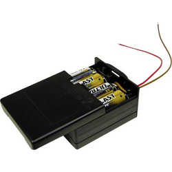 MPD BK-6049 Batteriebox 8x Mignon (AA) Kabel (L x B x H) 71.8 x 65.28 x 37.08mm