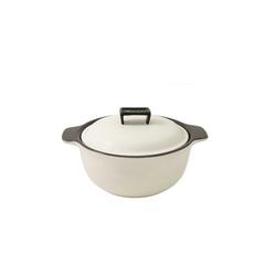 WALD Kochtopf Keramik-Kochtopf mittelgroß, weiß