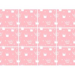 Fliesenaufkleber »Kronen«, Fliesenaufkleber, 17307049-0 rosa 15x0,1x15 cm rosa