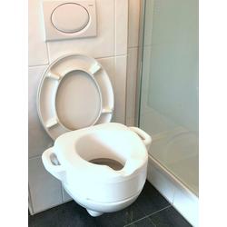 Bischof WC-Sitz Toiletten-Aufsatz, SItzerhöhung mit Griffen