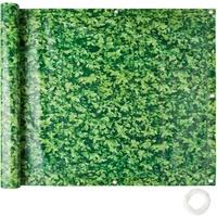 Tectake Balkon Sichtschutz, Variante 1 grünes Laub, 90 cm