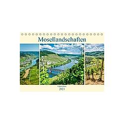 Mosellandschaften (Tischkalender 2021 DIN A5 quer)