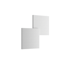 Puzzle Outdoor Double Square Wandleuchte - Matt Weiß