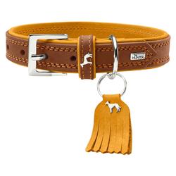Hunter Halsband Lucca braun/senf, Größe: 40 cm / Breite: 2,2 cm