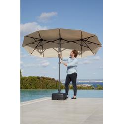 garten gut Sonnenschirm Malaga, LxB: 290x150 cm, Inkl. Schutzhülle, ohne Schirmständer beige