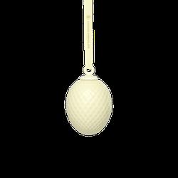 Lyngby Glas Rhombe Oster-Hängedeko Zartes Gelb 7,5 cm