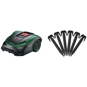 Bosch Rasenmäher Roboter Indego S+ 500 (mit 18V Akku und App-Funktion, Ladestation enthalten, Schnittbreite 19 cm, für Rasenflächen bis 500 m2, im Karton) & für Bosch Indego Begrenzungskabel