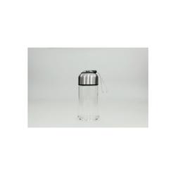 HTI-Line Trinkflasche Trinkflasche Glas, Trinkflasche schwarz