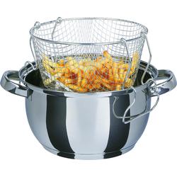 Frittier-/ Gartopf Universal, 3-teilig, Frittierkorb + Glasdeckel