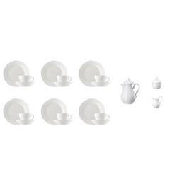 Hutschenreuther Geschirr-Set Kaffeeservice 21-tlg. - MARIA THERESIA Weiß