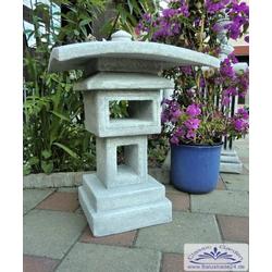 S206004 Vogelhaus im Stil einer japanischen Steinlaterne Steinhaus Gartendeko 75cm 100kg