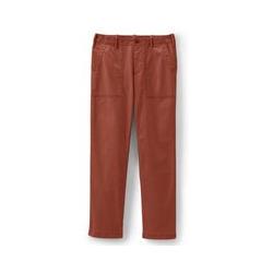Straight Chinos im Worker-Stil, Damen, Größe: L Normal, Orange, Baumwolle, by Lands' End, Pampelmuse - L - Pampelmuse