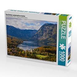 See Bohinj Landschaft im Herbst Lege-Größe 64 x 48 cm Foto-Puzzle Bild von iPics Photography Puzzle