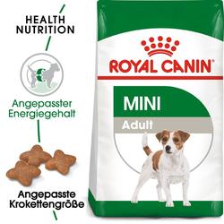 ROYAL CANIN Mini Adult Trockenfutter für kleine Hunde 8+1 kg Gratis