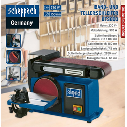 Scheppach Band-Tellerschleifer Scheppach Band- und Tellerschleifer BTS800 Schleifteller Schleifmaschine